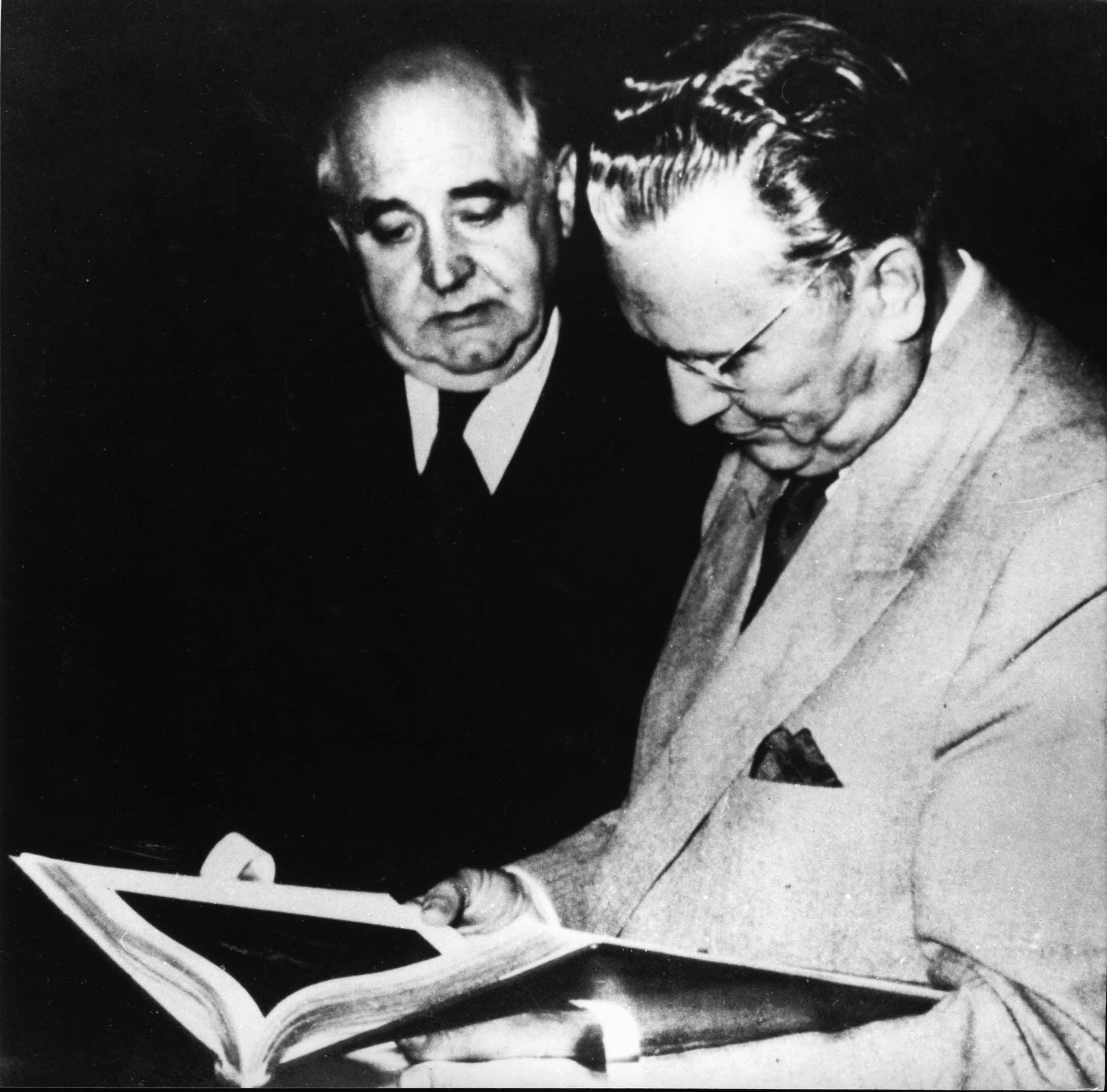 Miroslav Krleža i Josip Broz Tito