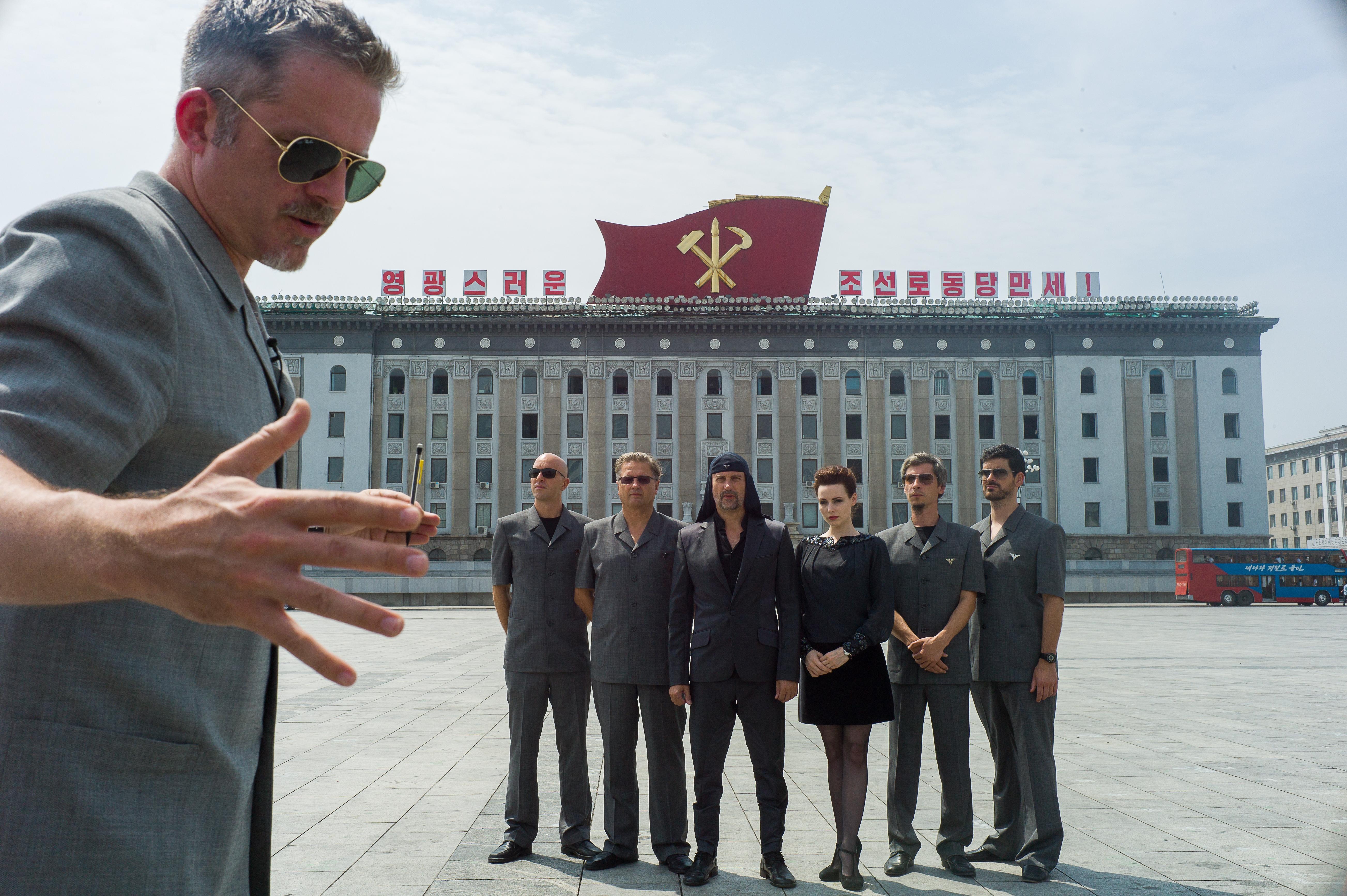 Morten Traavik prilikom snimanja filma 'Dan oslobođenja' koji govori o gostovanju Laibacha u Pjongjangu