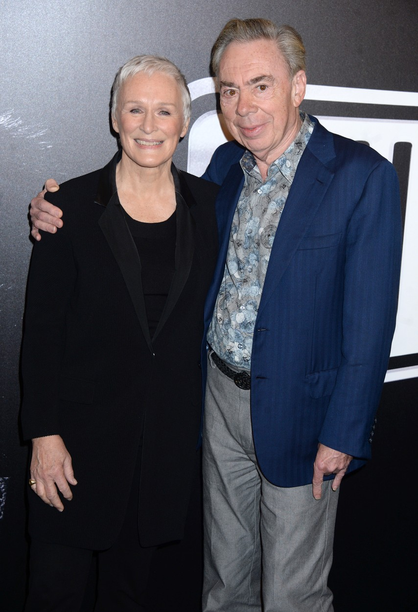 Glenn Close and Andrew Lloyd Webber at the Meet the Cast of 'Sunset Boulevard' on Broadway event, New York, USA - 25 Jan 2017, Image: 313279445, License: Rights-managed, Restrictions: WORLD RIGHTS- Fee Payable Upon Reproduction - For queries contact Photoshot - sales@avalon.red  London: +44 (0) 20 7421 6000  Los Angeles: +1 (310) 822 0419  Berlin: +49 (0) 30 76 212 251, Model Release: no, Credit line: Profimedia, Uppa entertainment