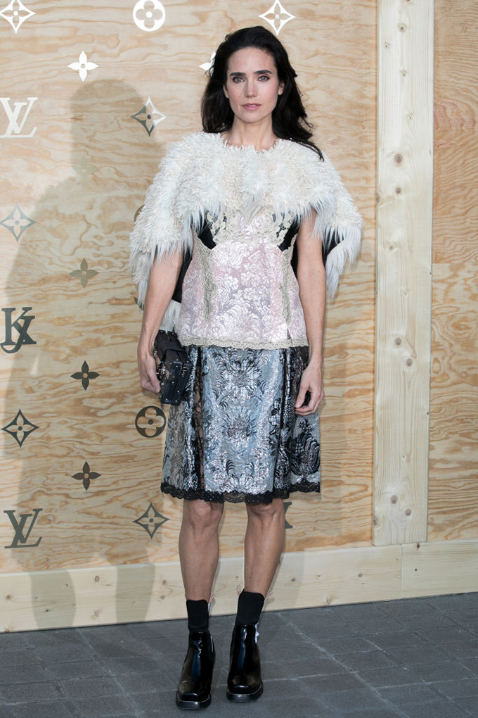 PARIS, FRANCE - APRIL 11:  Actress Jennifer Connelly attends the 'Louis Vuitton Masters: a collaboration with Jeff Koons' dinner at Musee du Louvre on April 11, 2017 in Paris, France.  (Photo by Marc Piasecki/WireImage)