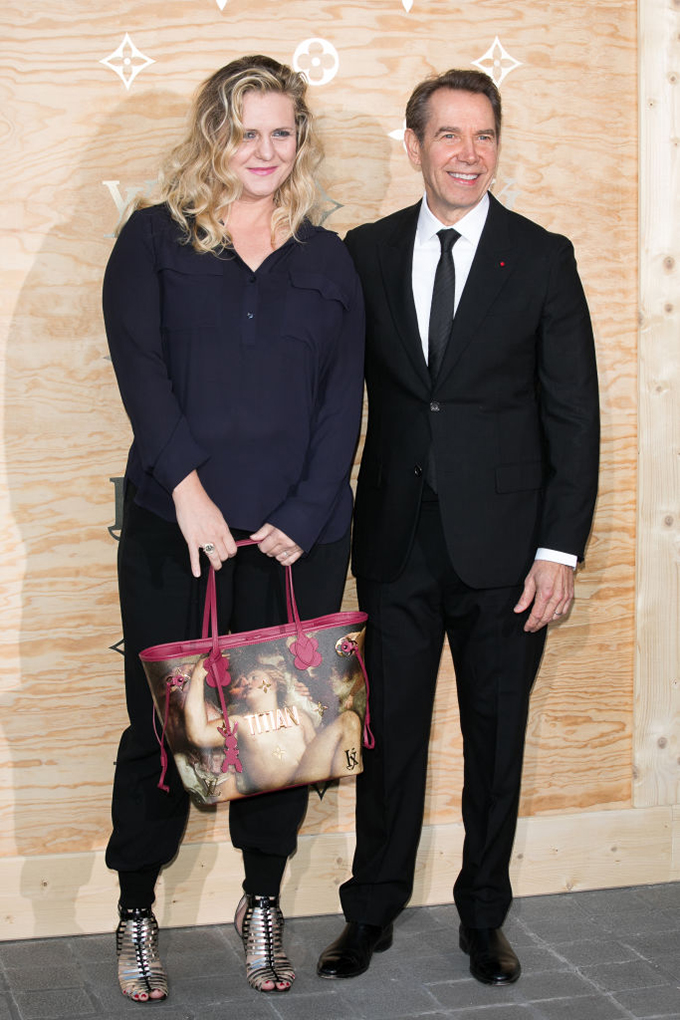 PARIS, FRANCE - APRIL 11:  (L-R) Justine Wheeler Koons and husband Jeff Koons attend the 'Louis Vuitton Masters: a collaboration with Jeff Koons' dinner at Musee du Louvre on April 11, 2017 in Paris, France.  (Photo by Marc Piasecki/WireImage)
