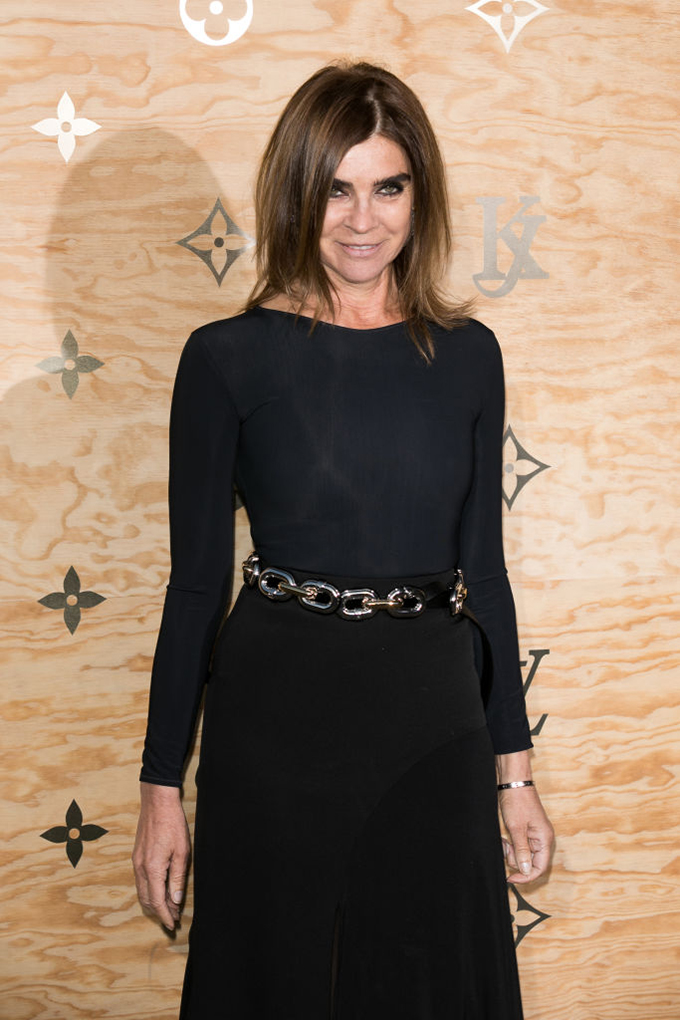 PARIS, FRANCE - APRIL 11: Carine Roitfeld attends the 'Louis Vuitton Masters: a collaboration with Jeff Koons' dinner at Musee du Louvre on April 11, 2017 in Paris, France.  (Photo by Marc Piasecki/WireImage)