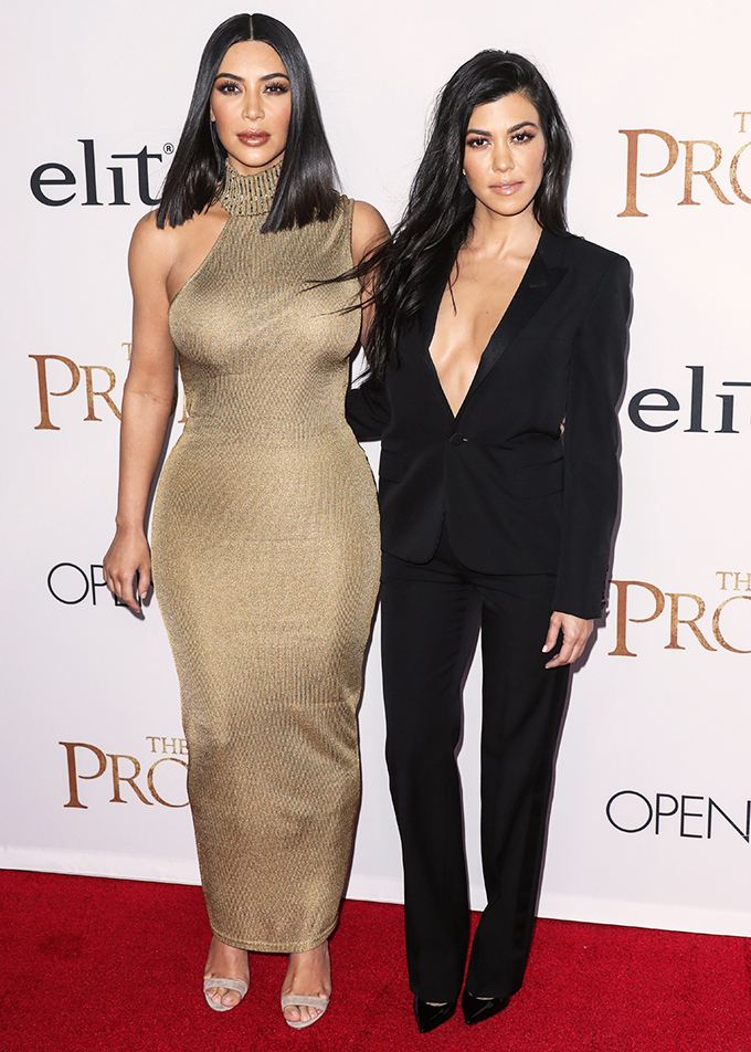 HOLLYWOOD, LOS ANGELES, CA, USA - APRIL 12: Kim Kardashian West and Kourtney Kardashian arrive at the Los Angeles Premiere Of Open Road Films' 'The Promise' held at the TCL Chinese Theatre IMAX on April 12, 2017 in Hollywood, Los Angeles, California, United States. (Photo by Xavier Collin/Image Press Agency/Splash News) <P> Pictured: Kim Kardashian West, Kourtney Kardashian <B>Ref: SPL1478479  120417  </B><BR/> Picture by: Xavier Collin/IPA/Splash News<BR/> </P><P> <B>Splash News and Pictures</B><BR/> Los Angeles:310-821-2666<BR/> New York:212-619-2666<BR/> London:870-934-2666<BR/> <span id=