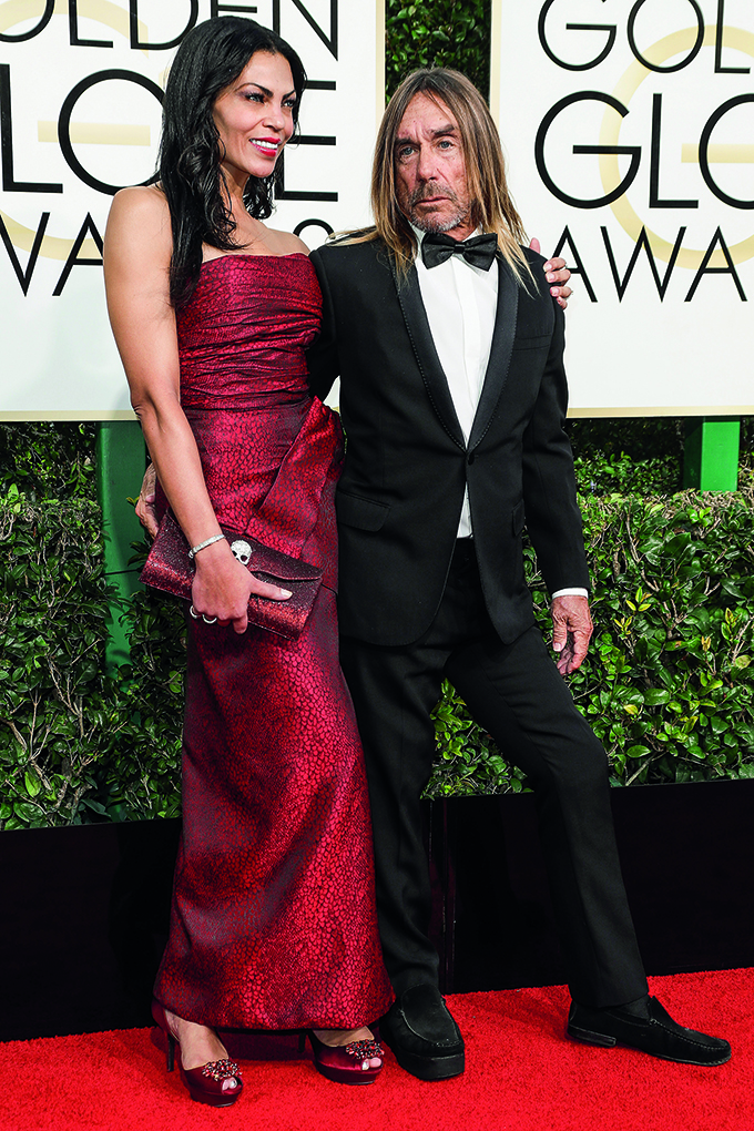 74th Annual Golden Globe Awards - Arrivals at The Beverly Hilton Hotel on January 8, 2017 in Beverly Hills, California. <P> Pictured: Iggy Pop <B>Ref: SPL1420020  080117  </B><BR/> Picture by: Splash News<BR/> </P><P> <B>Splash News and Pictures</B><BR/> Los Angeles:310-821-2666<BR/> New York:212-619-2666<BR/> London:870-934-2666<BR/> <span id=