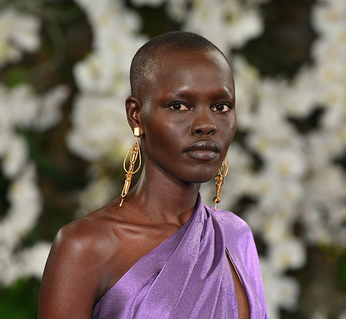 NEW YORK, NY - FEBRUARY 15:  Grace Bol walks the runway for Ralph Lauren collection during New York Fashion Week on February 15, 2017 in New York City.  (Photo by Slaven Vlasic/Getty Images)