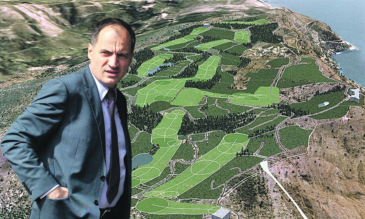 Izgled i lokacija budućeg golf igrališta na Srđu i ministar Dobrović