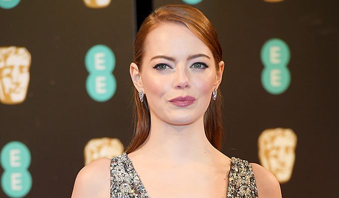 Emma Stone arrives for the British Academy of Film and Television Awards (BAFTA) at the Royal Albert Hall in London, Britain February 12, 2017.  REUTERS/Toby Melville - RTSYBA6