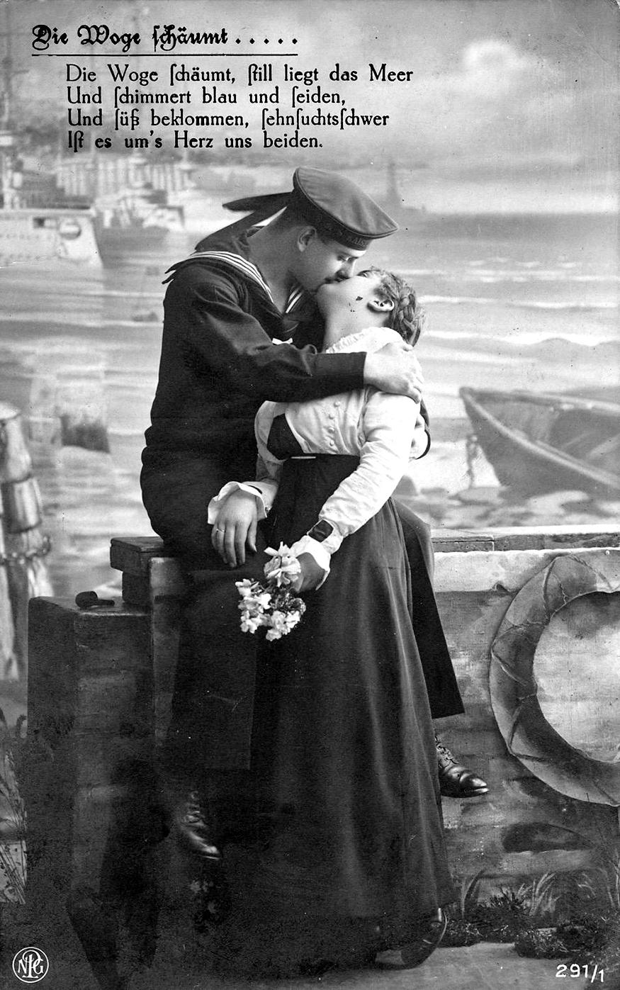 Jedna od mnogih razglednica ljubavne tematike koje je austrougarski mornar na bojnom brodu S.M.S. Arpad, Stefan Cvitak,  od 1914. do 1918. slao iz Pule u Zagreb svojoj ljubljenoj Slavici Kodrin