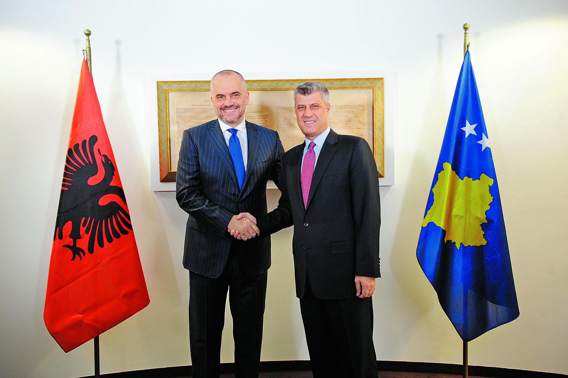 Albanski premijer Edi Rama i predsjednik Kosova Hashim Thaci