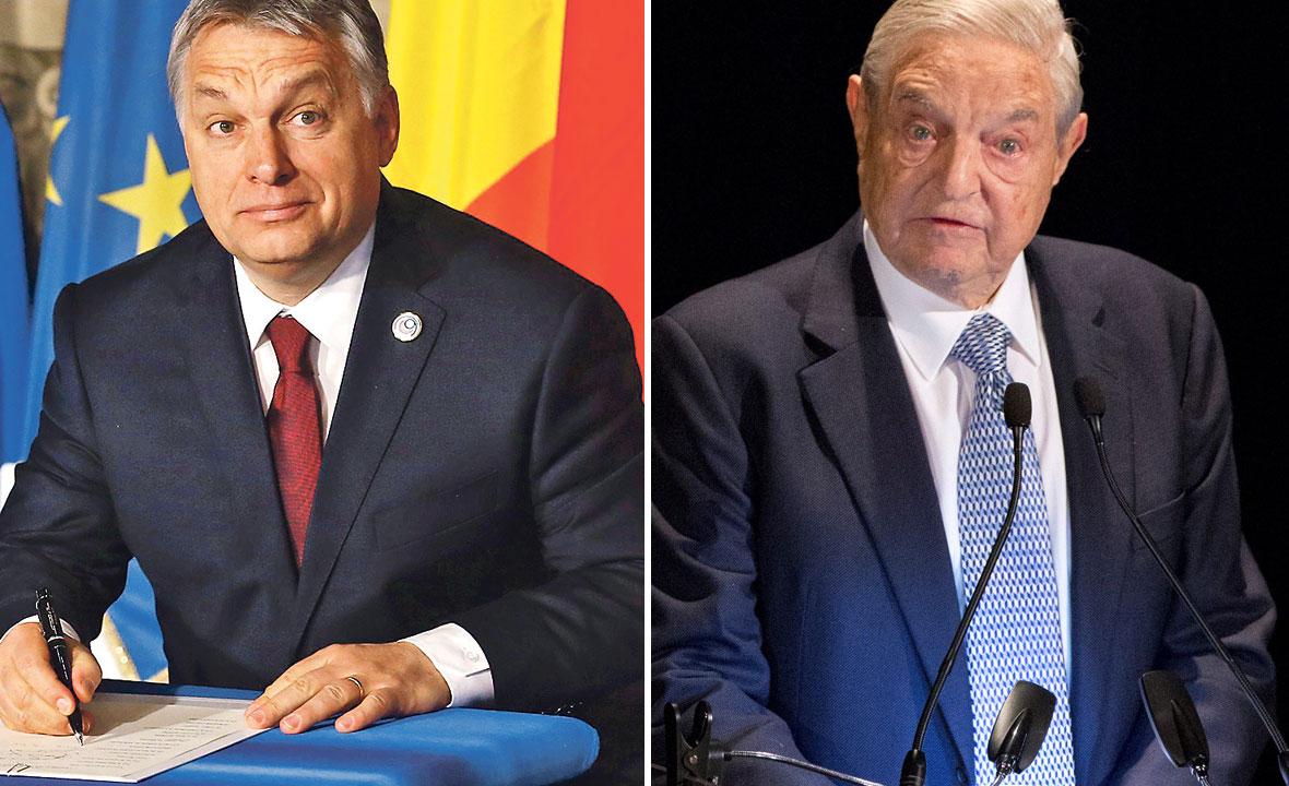 Viktor Orban (lijevo) i George Soros (desno)