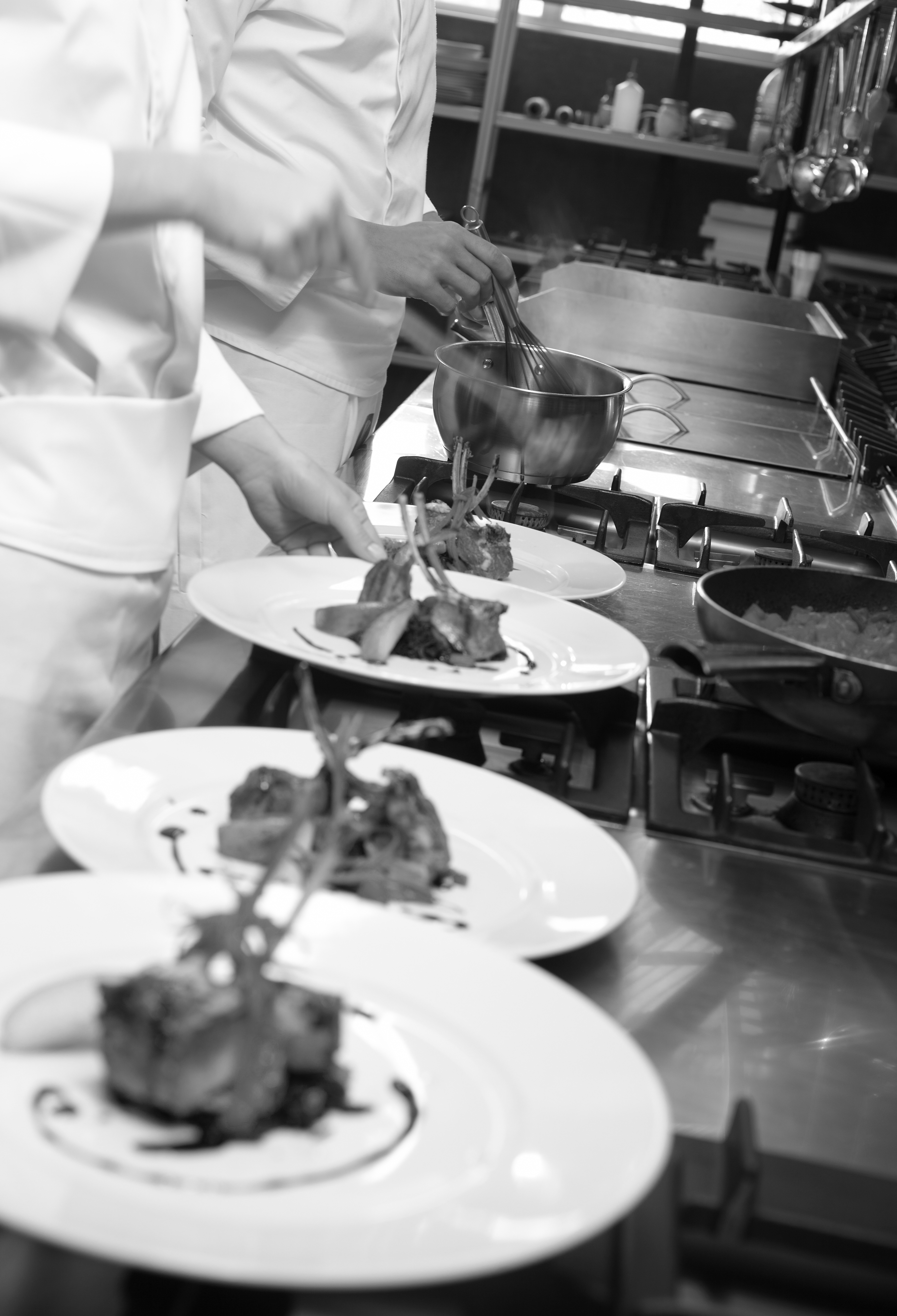 chefs prepearing food