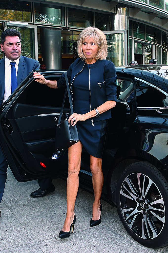 French Minister of the Economy, Industry and the Digital Sector Emmanuel Macron and his wife Brigitte Trogneux return to his ministry after offer his resignation to President Francois Hollande, in Paris, France on August 30, 2016., Image: 298373858, License: Rights-managed, Restrictions: , Model Release: no, Credit line: Profimedia, Abaca