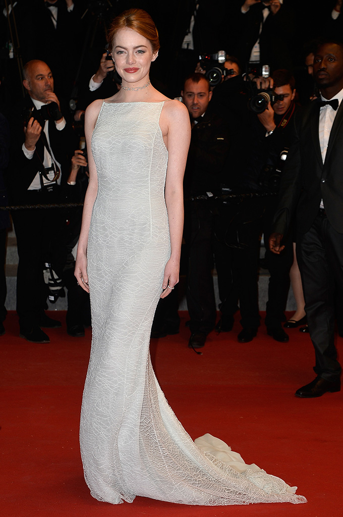 CANNES, FRANCE - MAY 15:  Emma Stone seen departing after the Premiere of