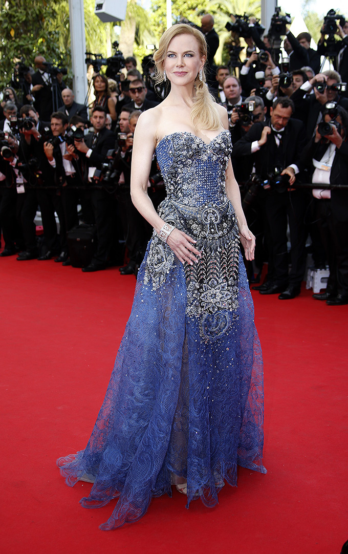 Cast member Nicole Kidman poses on the red carpet as she arrives for the opening ceremony and the screening of the film