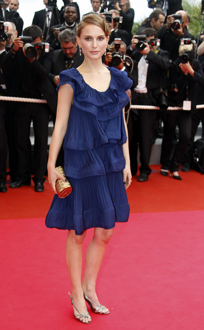 Jury member Natalie Portman arrives on the red carpet for the screening of the film