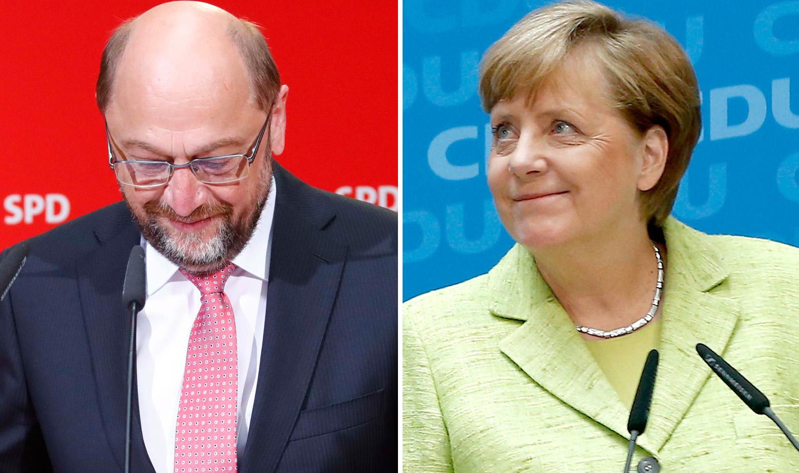 Schulz i Merkel