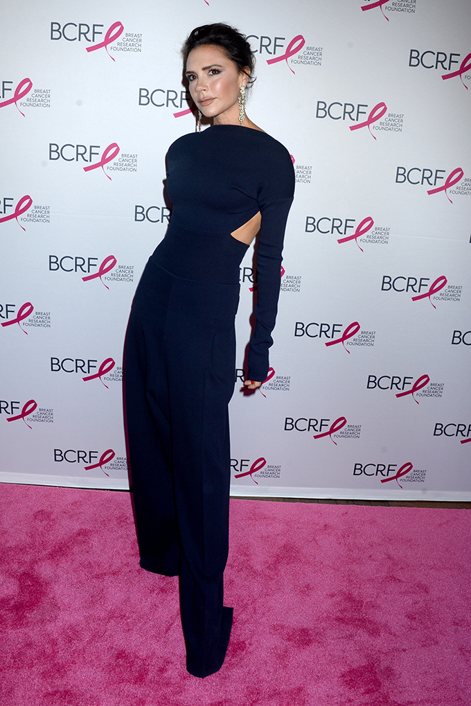Victoria Beckham arrives on the red carpet at The Breast Cancer Research Foundation's 2017 Hot Pink Party at the Park Avenue Armory on May 12, 2017 in New York City.    Photo by /UPI, Image: 332137556, License: Rights-managed, Restrictions: , Model Release: no, Credit line: Profimedia, UPI