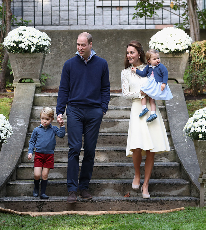 The Duke and Duchess of Cambridge with their children Prince George and Princess Charlotte arrive for a children's party for Military families at Government House in Victoria during the Royal Tour of Canada., Image: 301425365, License: Rights-managed, Restrictions: , Model Release: no, Credit line: Profimedia, Press Association