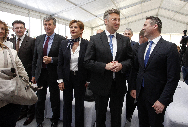 Milan Kujundžić, Martina Dalić, Andrej Plenković i Marin Pucar
