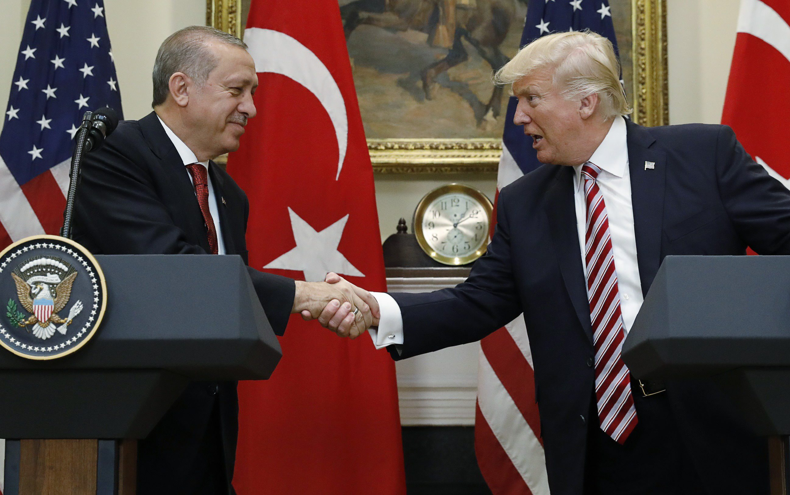 Arhivska fotografija: Recep Tayyip Erdogan i Donald Trump