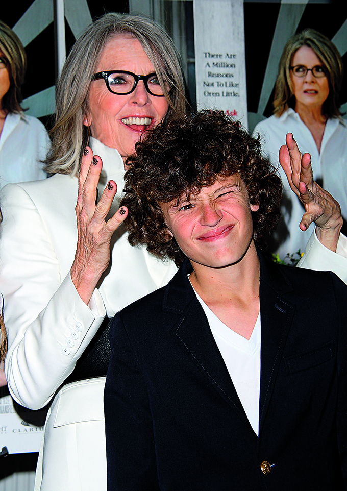 EAST HAMPTON, NY - JULY 06:  Diane Keaton and her son Duke Keaton attend the