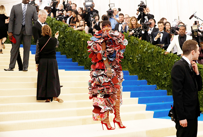 Metropolitan Museum of Art Costume Institute Gala - Rei Kawakubo/Comme des Garcons: Art of the In-Between - Arrivals - New York City, U.S. - 01/05/17 - Singer Rihanna. REUTERS/Lucas Jackson     TPX IMAGES OF THE DAY