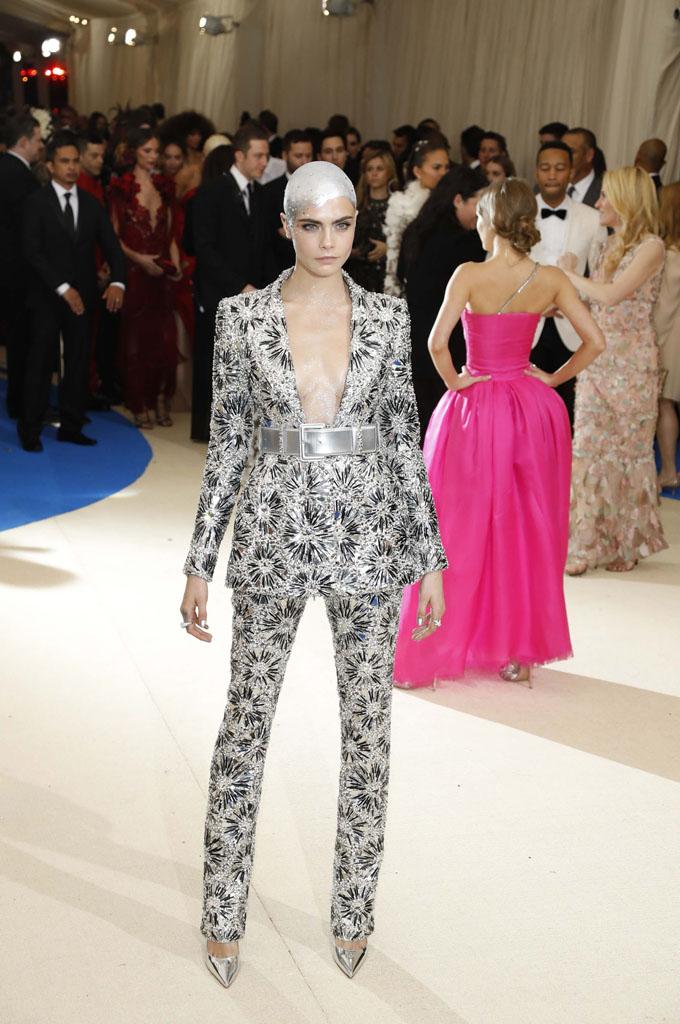Metropolitan Museum of Art Costume Institute Gala - Rei Kawakubo/Comme des Garcons: Art of the In-Between - Arrivals - New York City, U.S. - 01/05/17 - Actress Cara Delevingne. REUTERS/Lucas Jackson