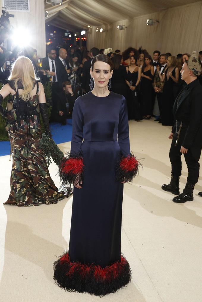 Metropolitan Museum of Art Costume Institute Gala - Rei Kawakubo/Comme des Garcons: Art of the In-Between - Arrivals - New York City, U.S. - 01/05/17 - Actress Sarah Paulson. REUTERS/Lucas Jackson