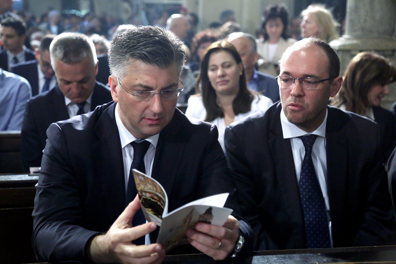 Na fotografiji: Andrej Plenković i Davor Ivo Stier