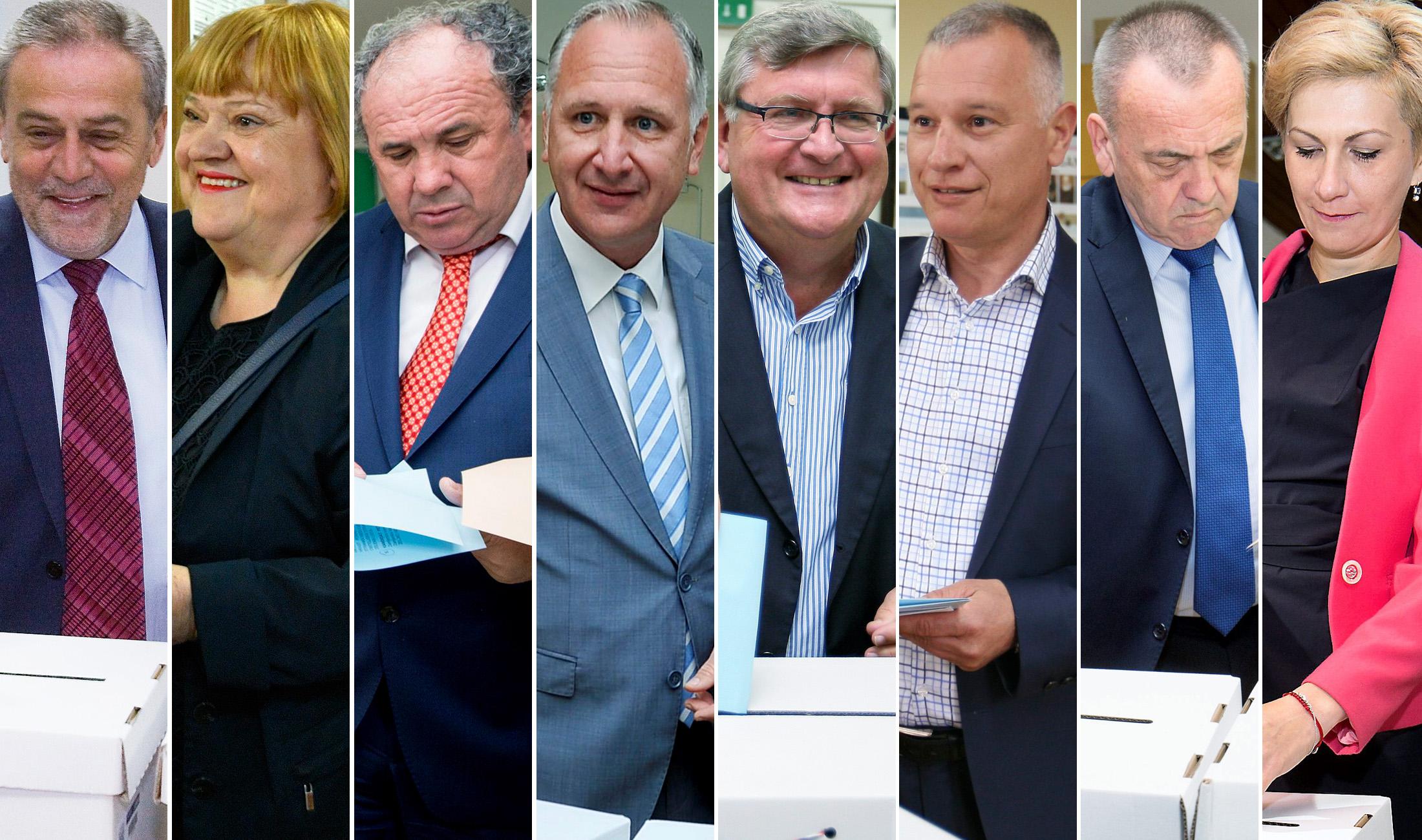 Milan Bandić, Anka Mrak-Taritaš, Željko Kerum, Andro Krstulović Opara, Vojko Obersnel, Hrvoje Burić, Ivica Vrkić i Ivana Šojat