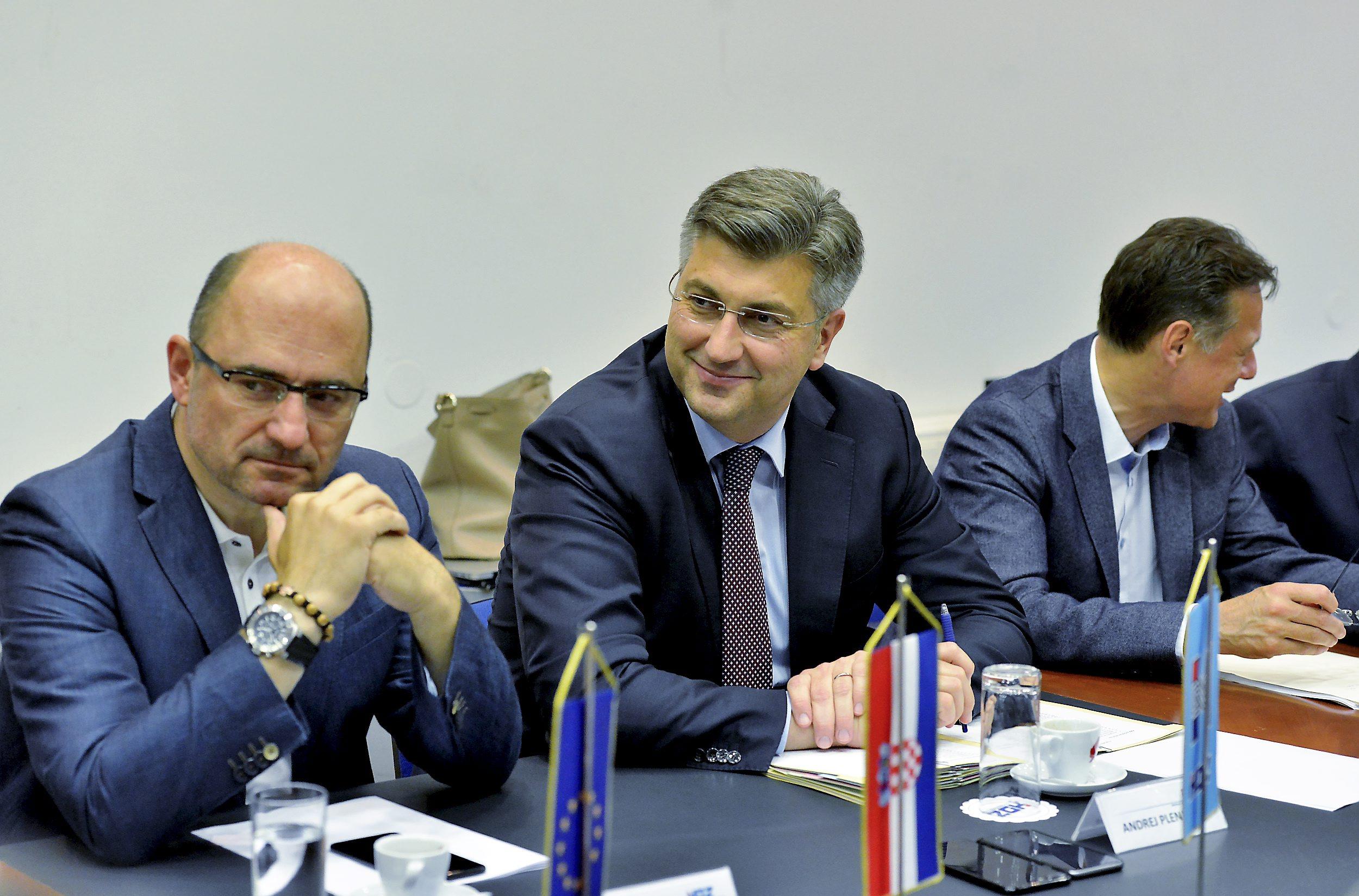 Milijan Brkić i Andrej Plenković