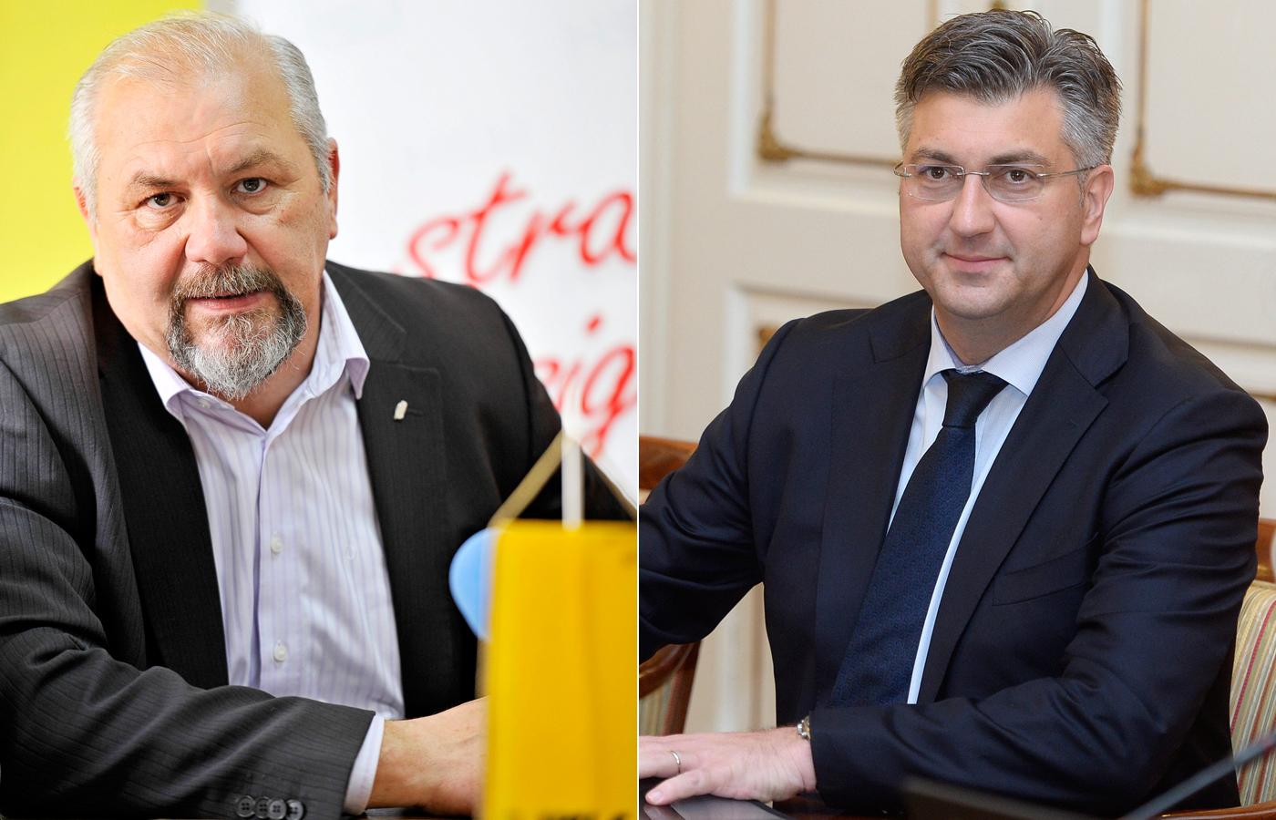 Silvano Hrelja i Andrej Plenković