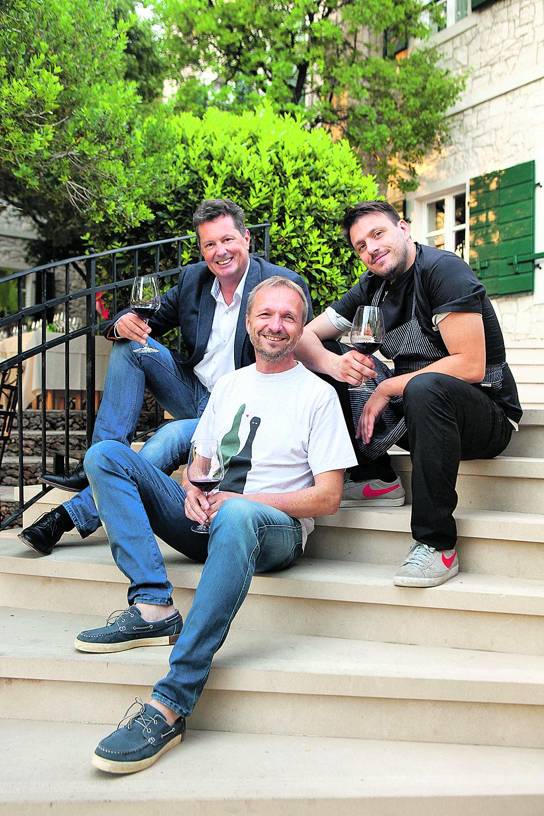 restoran vinarija i hotel Boskinac 19052017 Vecera Mate Jankovic i vina Ivica Matosevic i Boris Suljic Foto Mario Kucera