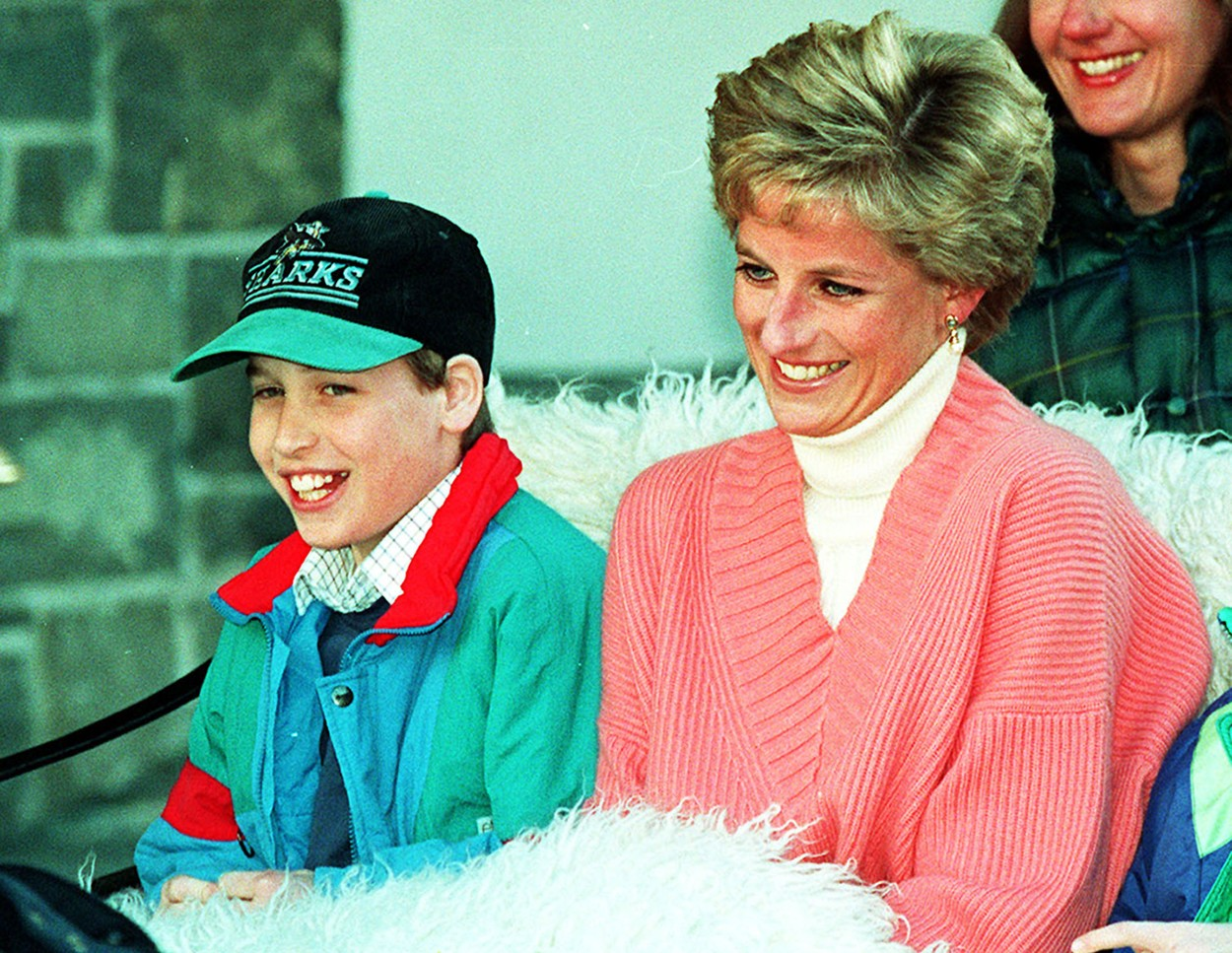File photo dated 27/3/1994 of Prince William with his mother, Diana, Princess of Wales. The Duke of Cambridge has revealed the shock of his mother's death lives with him to this day as he sympathised with a London Marathon runner who appealed for advice on how to comfort her bereaved children., Image: 329485999, License: Rights-managed, Restrictions: FILE PHOTO, Model Release: no, Credit line: Profimedia, Press Association
