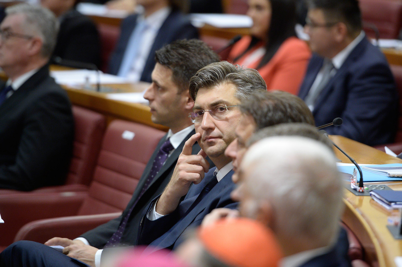 Božo Petrov, Andrej Plenković i Gordan Jandroković
