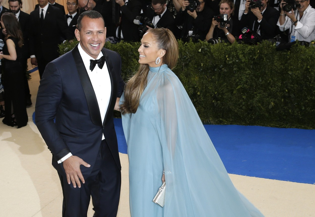 Alex Rodriguez and Jennifer Lopez arrive on the red carpet at the Costume Institute Benefit at The Metropolitan Museum of Art celebrating the opening of Rei Kawakubo/Comme des Garcons: Art of the In-Between in New York City on May 1, 2017.     Photo by /UPI, Image: 330862136, License: Rights-managed, Restrictions: , Model Release: no, Credit line: Profimedia, UPI