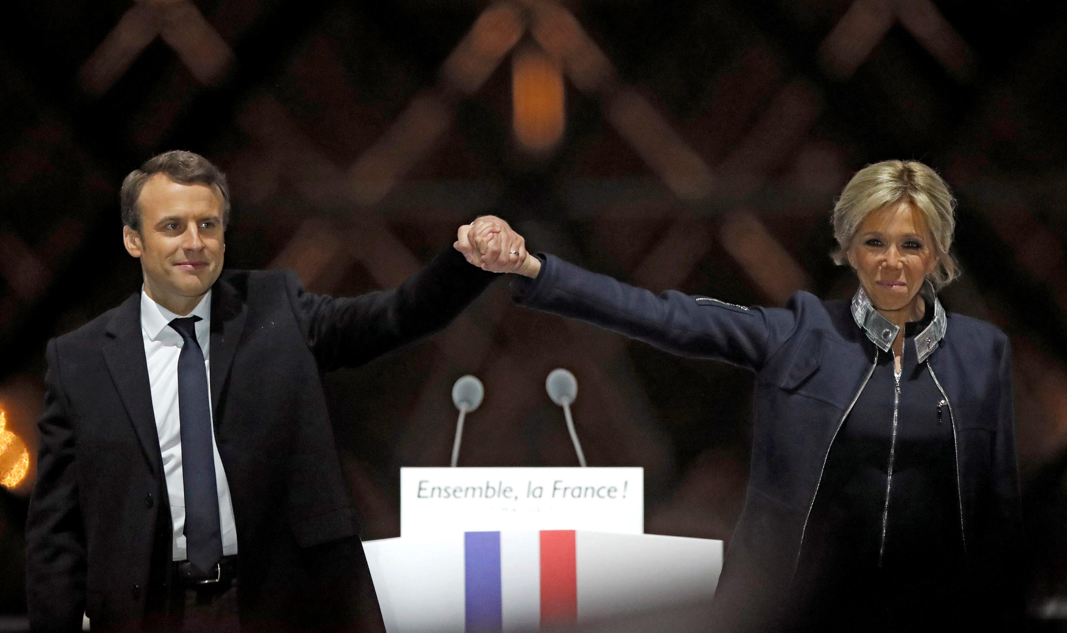 Emmanuel Macron i Brigitte Trogneux
