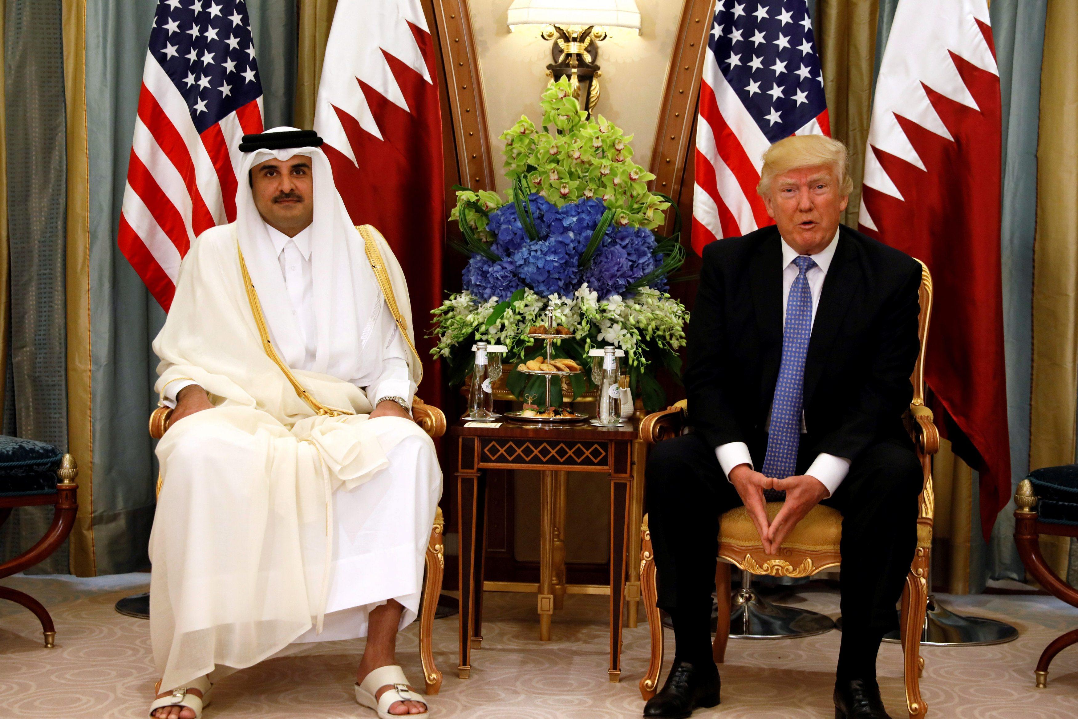 Katarski emir Šeik Tamim Bin Hamad Al-Thani i Donald Trump u Rijadu