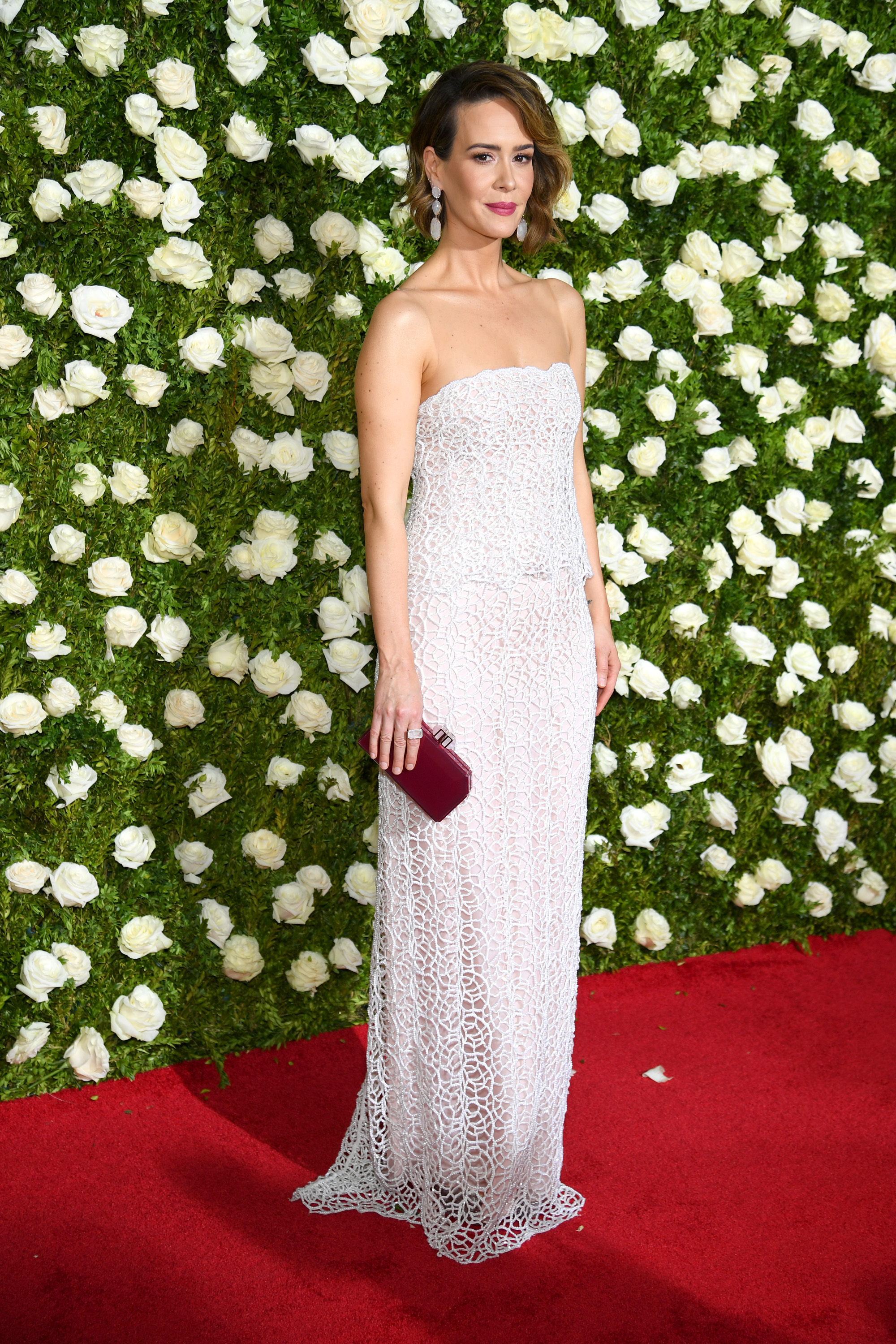 NEW YORK, NY - JUNE 11:  Sarah Paulson attends the 2017 Tony Awards at Radio City Music Hall on June 11, 2017 in New York City.  (Photo by Dimitrios Kambouris/Getty Images for Tony Awards Productions)
