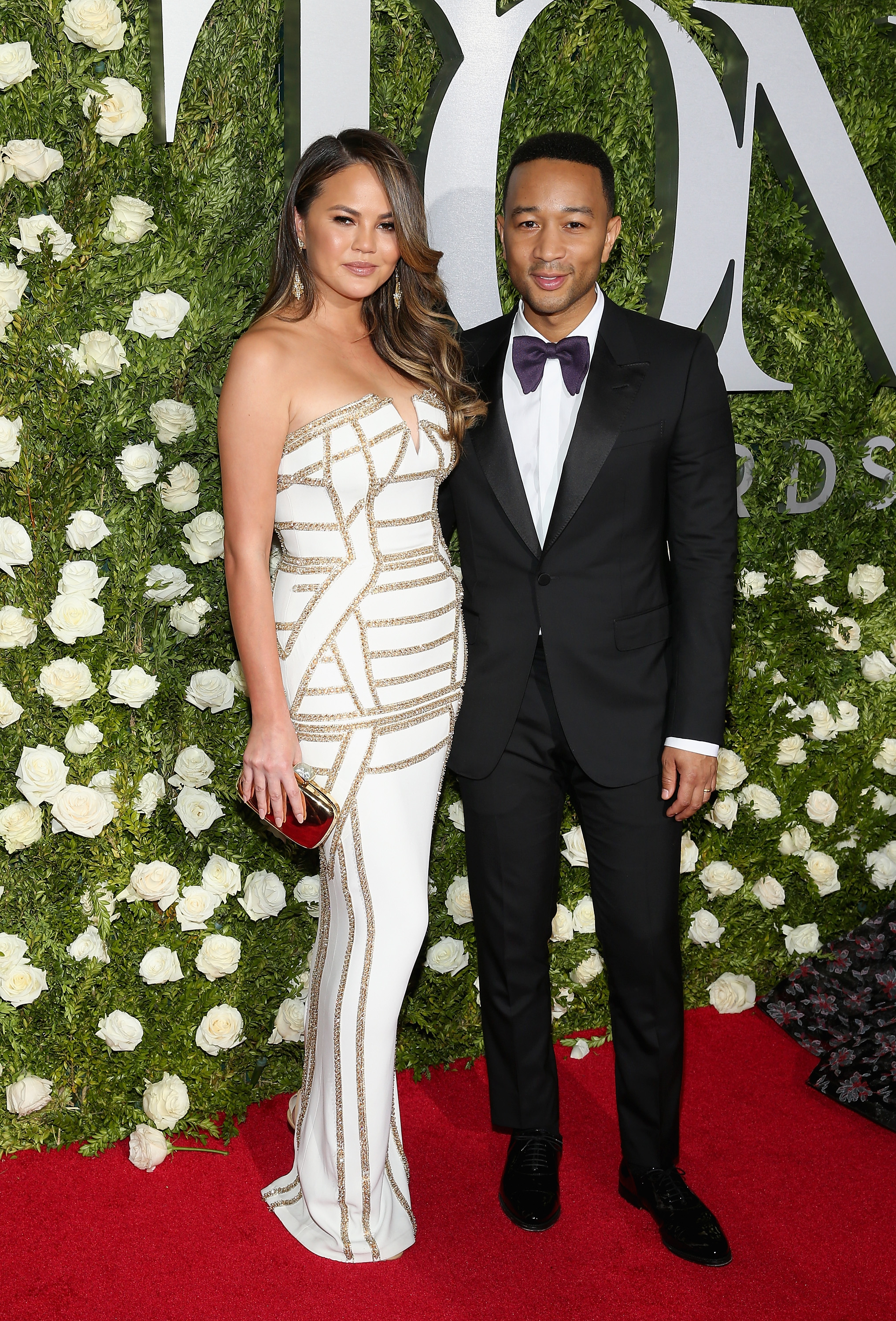 NEW YORK, NY - JUNE 11: Chrissy Teigen and John Legend attend the 2017 Tony Awards at Radio City Music Hall on June 11, 2017 in New York City.  (Photo by Jemal Countess/Getty Images for Tony Awards Productions)