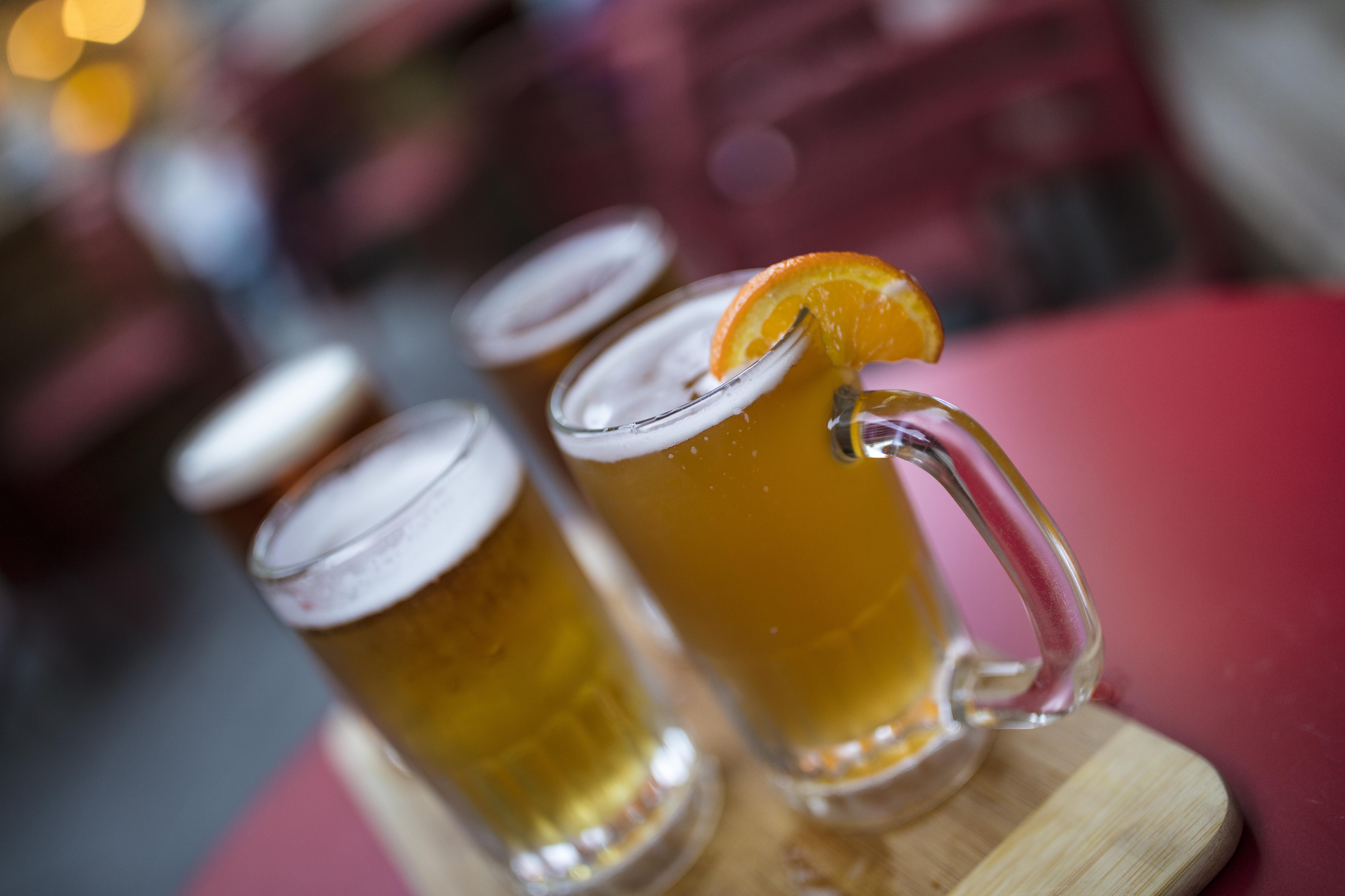 Refreshing Summer drink concept.