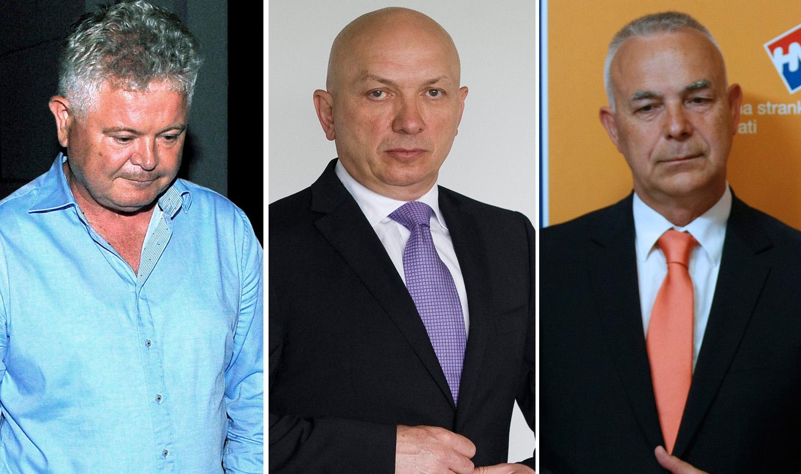Andro Vlahušić, Goranko Fižulić i Jozo Radoš