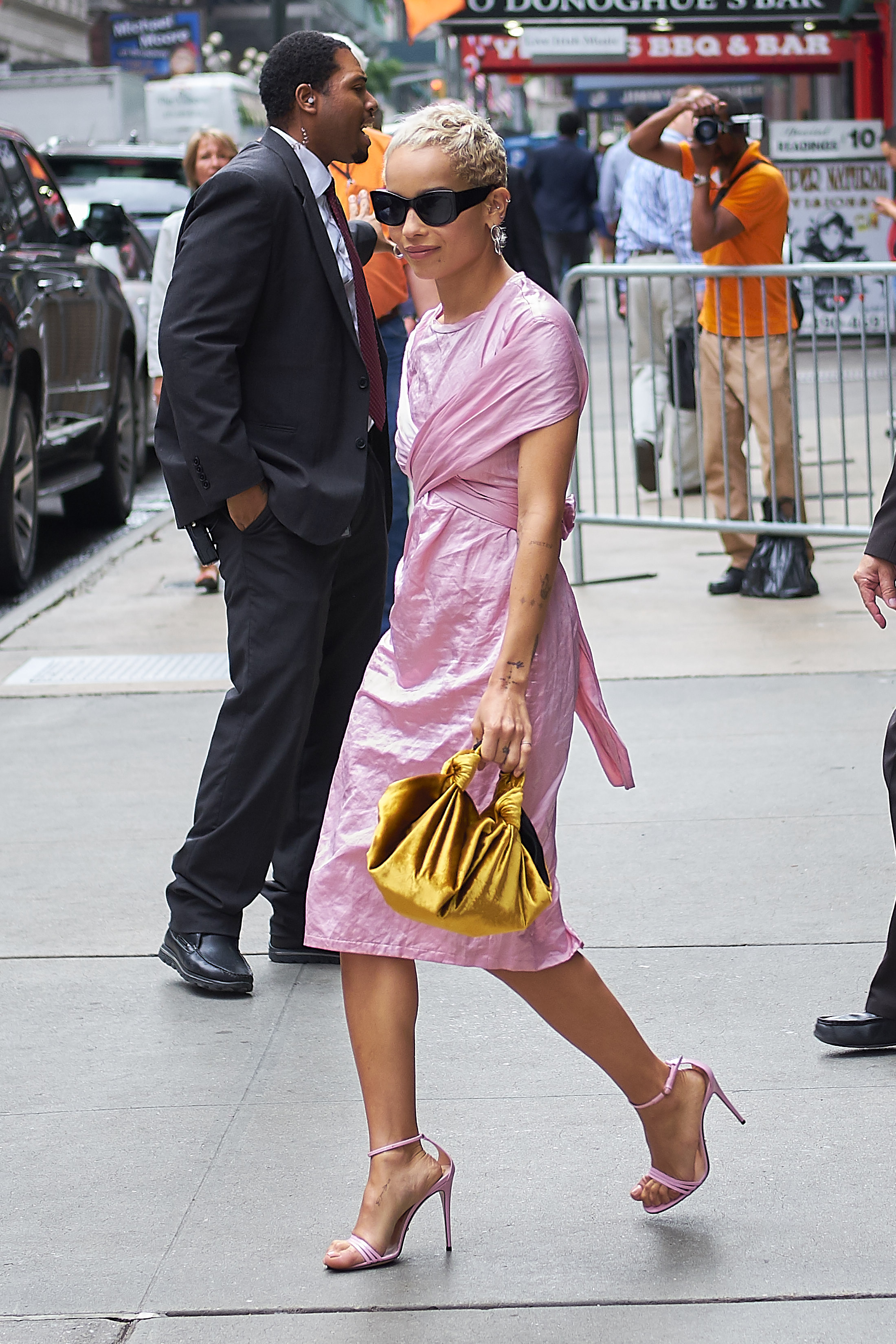 Zoe Kravitz is seen wearing pink while out and about in New York City, NY. <P> Pictured: Zoe Kravitz <B>Ref: SPL1520308  150617  </B><BR/> Picture by: J. Webber / Splash News<BR/> </P><P> <B>Splash News and Pictures</B><BR/> Los Angeles:310-821-2666<BR/> New York:212-619-2666<BR/> London:870-934-2666<BR/> <span id=