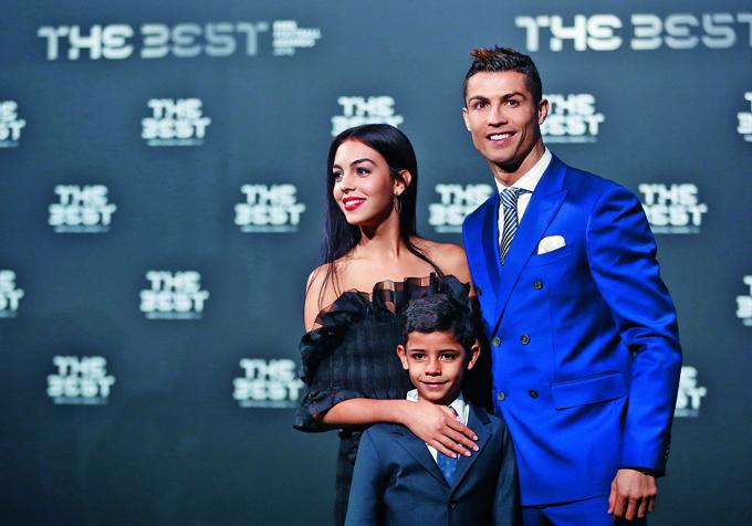 Na nedavnoj proslavi osvajanja Lige prvaka sa sinom i djevojkom Georginom Rodriguez