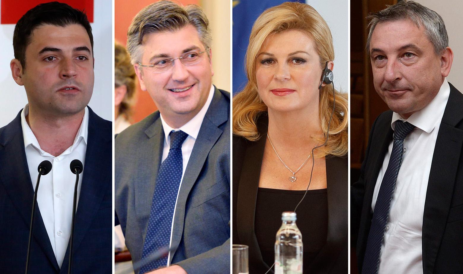 Plenković, Bernardić, Kolinda Grabar Kitarović i Štromar