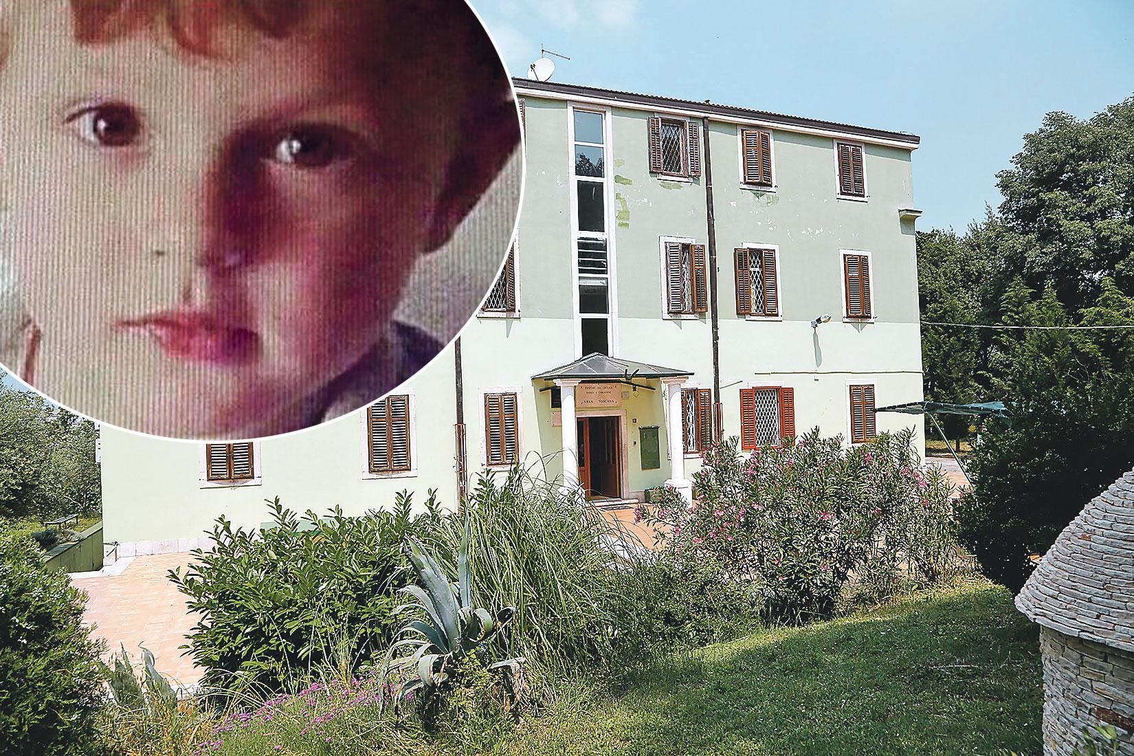 zgrada Doma odgoja za odgoj djece i mladeži u kojem je 14-godišnjakinja bila štićenica; u krugu: ubijeni Denis Pašić