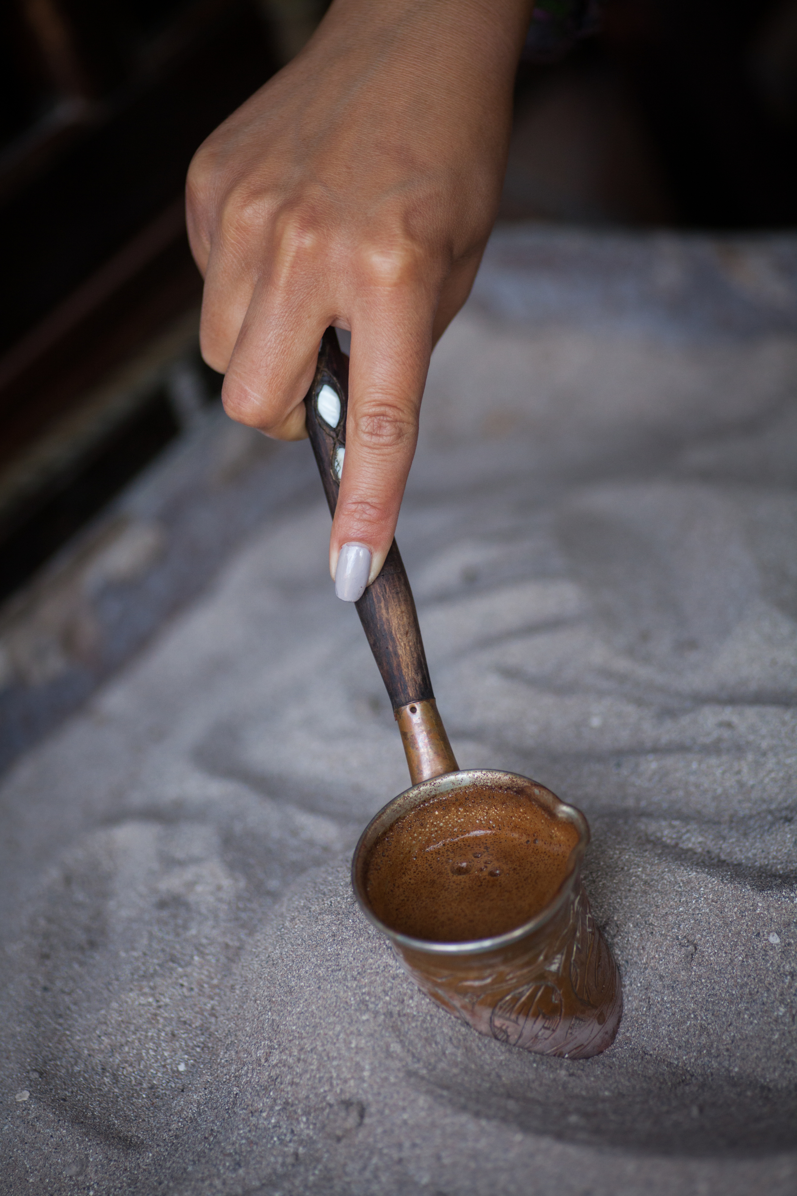 Color image of some Turkish sand coffee.