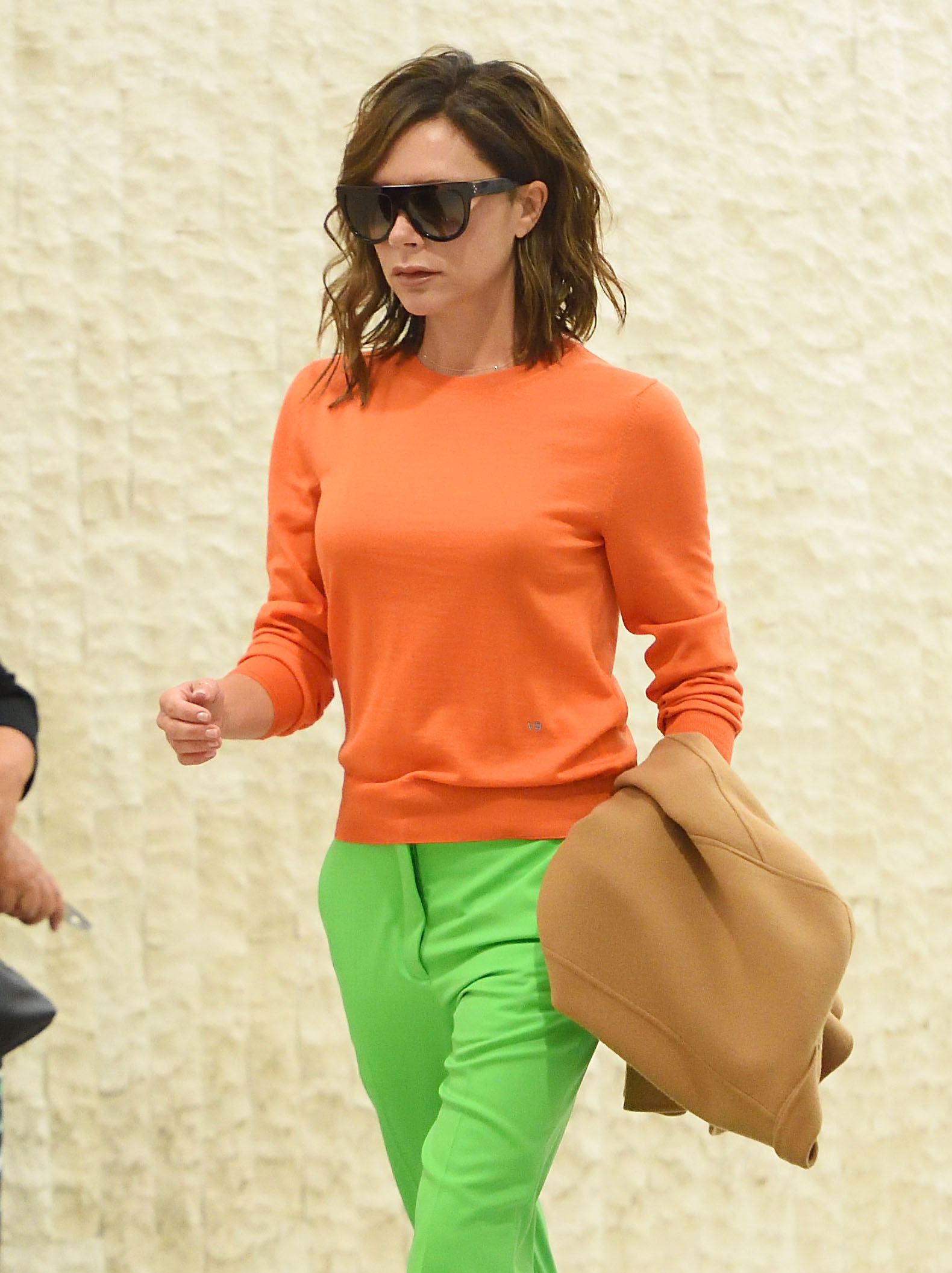 Victoria Beckham arrives at JFK airport in NYC. <P> Pictured: Victoria Beckham <B>Ref: SPL1510108  050617  </B><BR/> Picture by: Ron Asadorian / Splash News<BR/> </P><P> <B>Splash News and Pictures</B><BR/> Los Angeles:310-821-2666<BR/> New York:212-619-2666<BR/> London:870-934-2666<BR/> <span id=