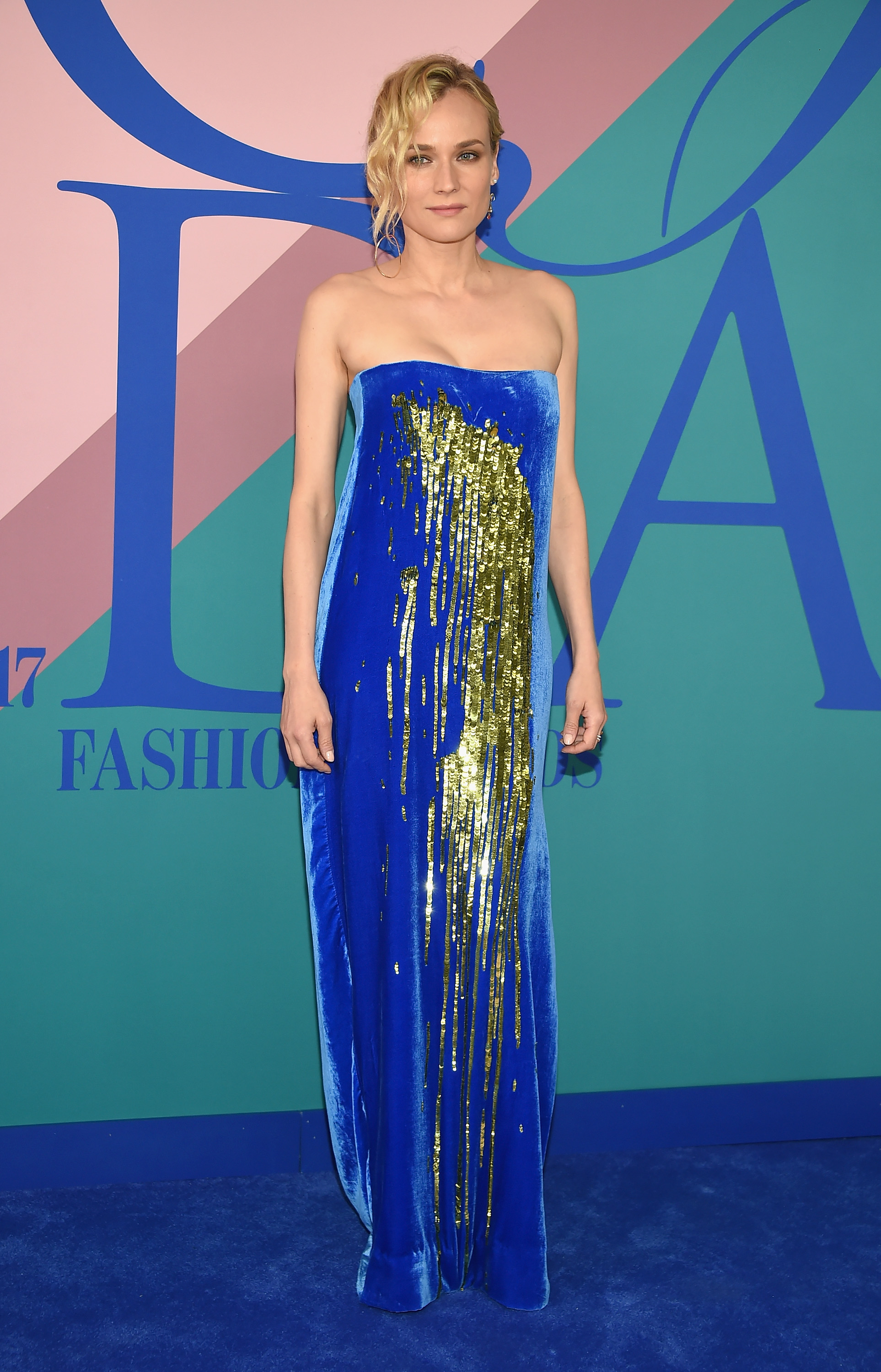 NEW YORK, NY - JUNE 05:  Actress Diane Kruger attends the 2017 CFDA Fashion Awards at Hammerstein Ballroom on June 5, 2017 in New York City.  (Photo by Dimitrios Kambouris/Getty Images)
