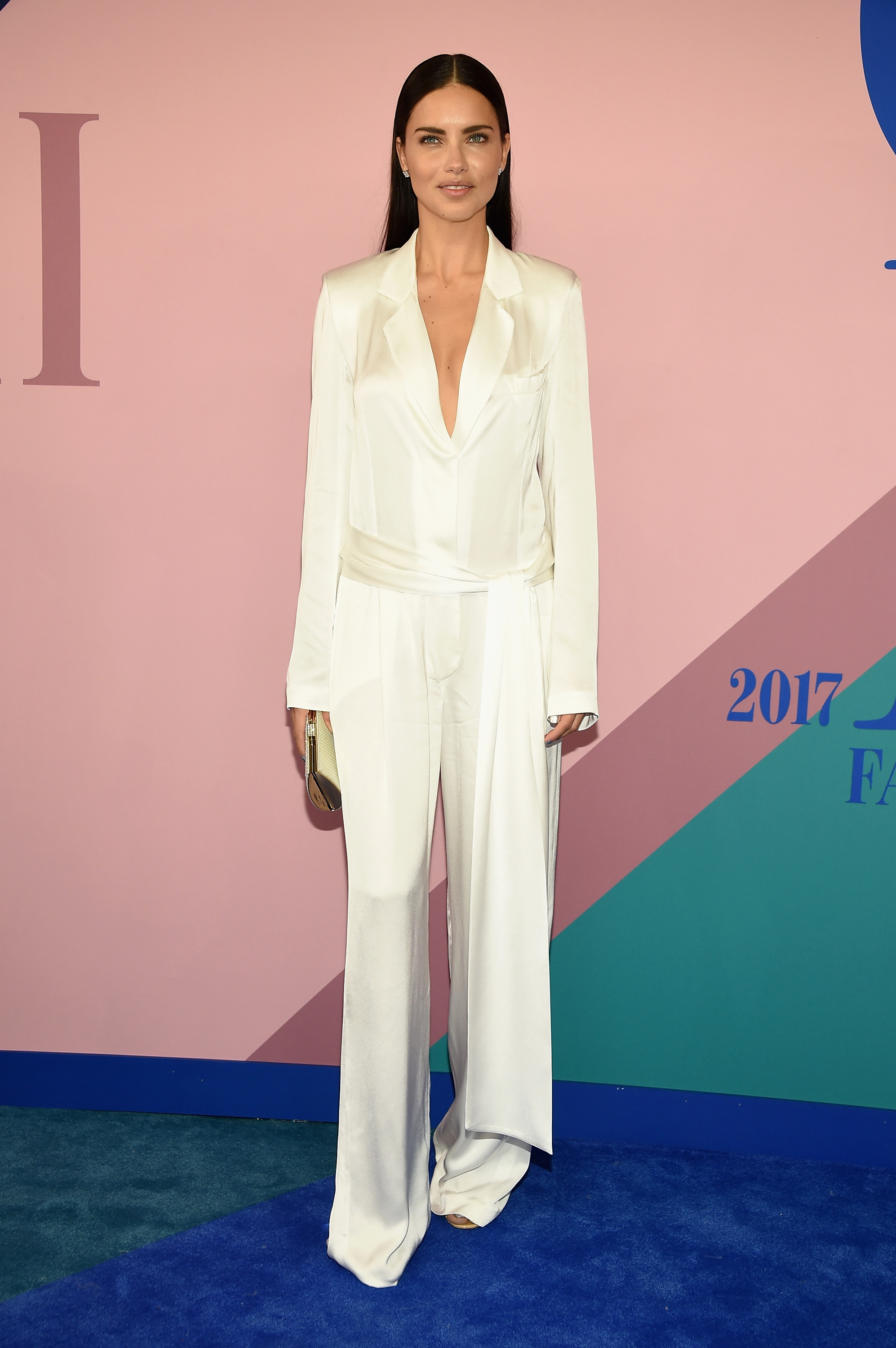 NEW YORK, NY - JUNE 05:  Model Adriana Lima attends the 2017 CFDA Fashion Awards at Hammerstein Ballroom on June 5, 2017 in New York City.  (Photo by Dimitrios Kambouris/Getty Images)